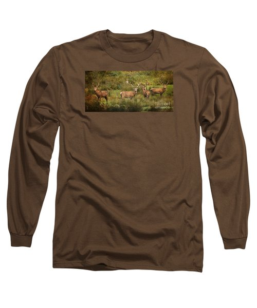 Stag Party The Boys Long Sleeve T-Shirt by Linsey Williams