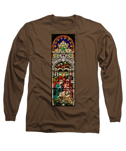 Long Sleeve T-Shirt featuring the photograph Stained Glass Scene 4 - 2 by Adam Jewell