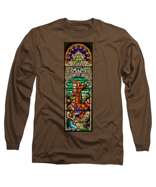 Long Sleeve T-Shirt featuring the photograph Stained Glass Scene 6 Crop by Adam Jewell