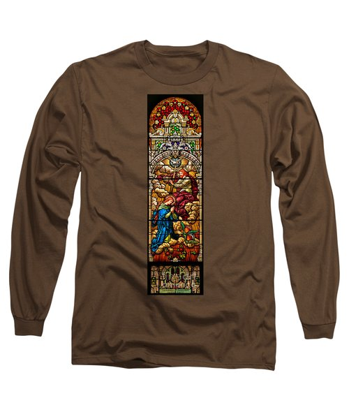 Long Sleeve T-Shirt featuring the photograph Stained Glass Scene 8 by Adam Jewell