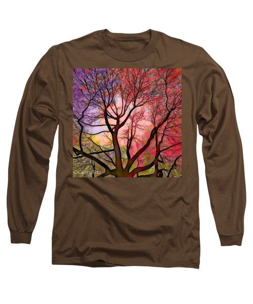 Stained Glass Sunrise 2 Long Sleeve T-Shirt