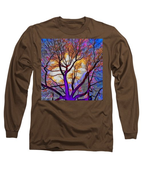 Stained Glass Sunrise Long Sleeve T-Shirt