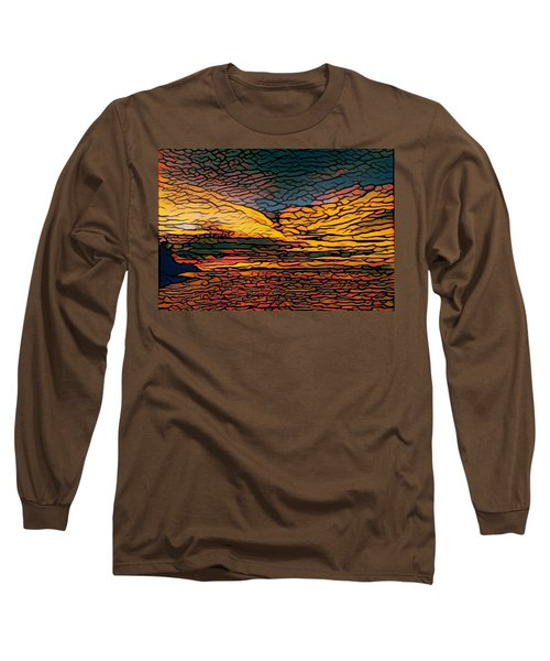 Stained Glass Sunset Long Sleeve T-Shirt