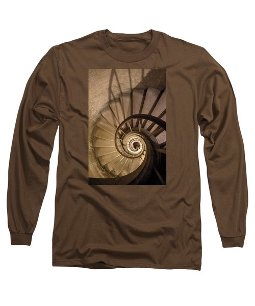 Stairs To The Paris Pantheon Crypts Long Sleeve T-Shirt by Jean Haynes