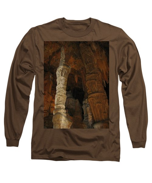 Stalacmites In Luray Caverns Va  Long Sleeve T-Shirt