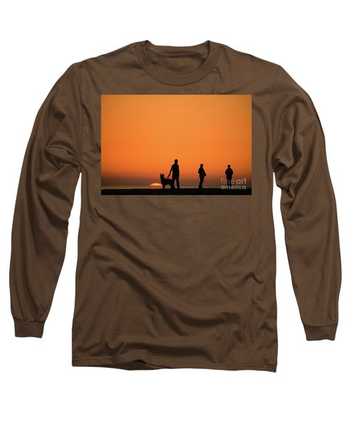 Standing At Sunset Long Sleeve T-Shirt