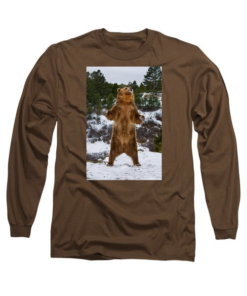 Standing Grizzly Bear Long Sleeve T-Shirt