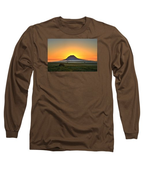 Standing In The Shadow Long Sleeve T-Shirt by Fiskr Larsen