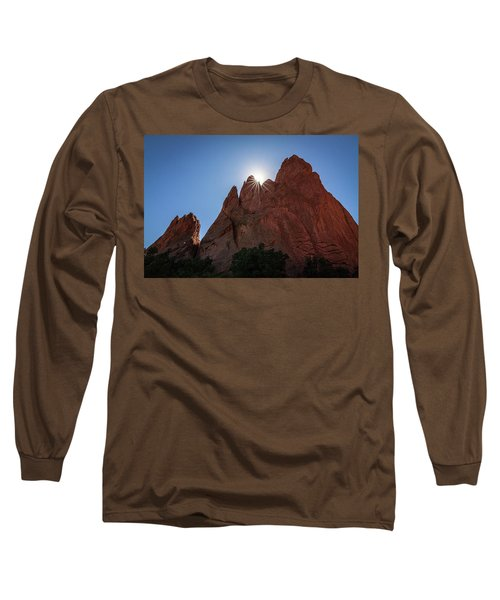 Standstone Sunburst - Garden Of The Gods Colorado Long Sleeve T-Shirt