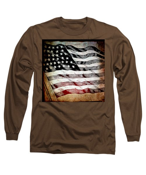 Star Spangled Banner Long Sleeve T-Shirt by Angelina Vick
