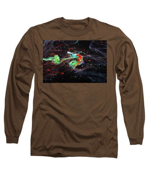 Starborn - Colorful Abstract Art Photography - Paint Pouring Long Sleeve T-Shirt by Modern Art Prints