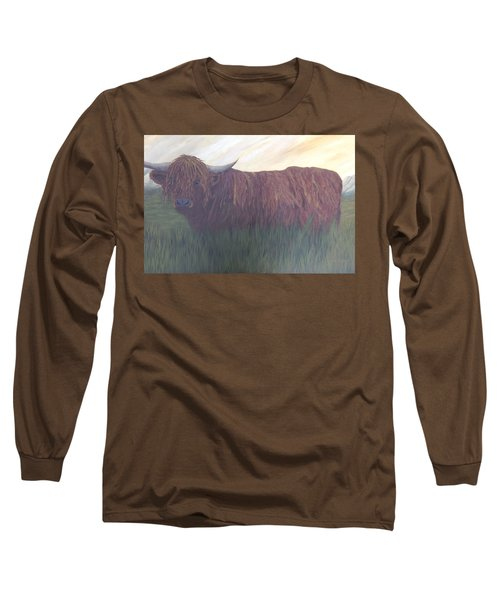 Stare Down Long Sleeve T-Shirt by T Fry-Green
