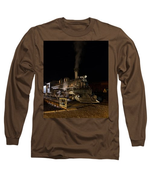 Long Sleeve T-Shirt featuring the photograph Locomotive And Coal Tender On A Turntable Of The Durango And Silverton Narrow Gauge Railroad by Carol M Highsmith
