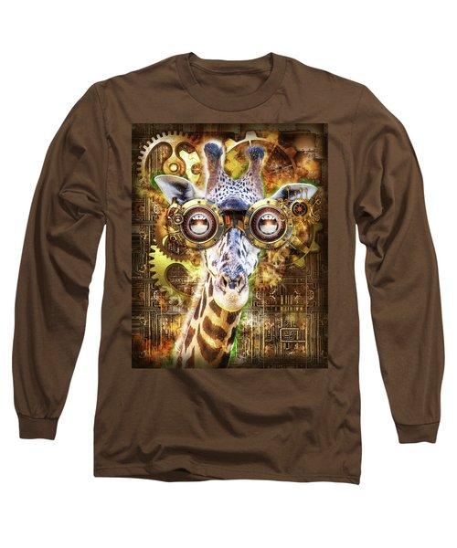 Steam Punk Giraffe Long Sleeve T-Shirt