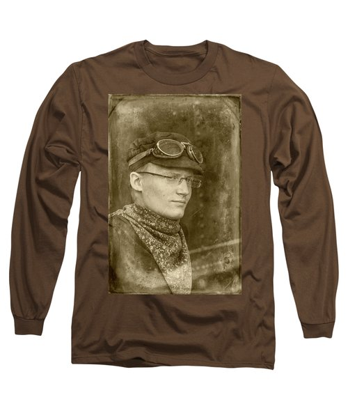 Long Sleeve T-Shirt featuring the photograph Steam Train Series No 37 by Clare Bambers