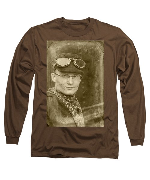Long Sleeve T-Shirt featuring the photograph Steam Train Series No 39 by Clare Bambers