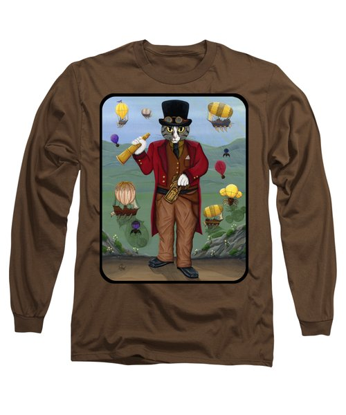 Steampunk Cat Guy - Victorian Cat Long Sleeve T-Shirt