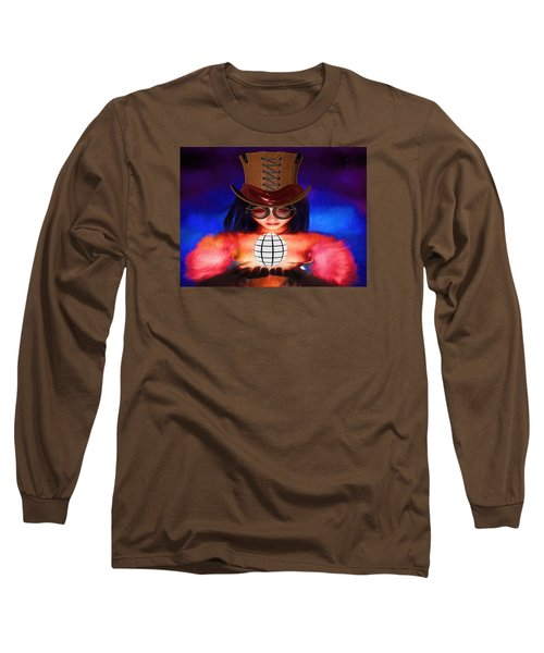 Steampunk Into The Light  Long Sleeve T-Shirt by Louis Ferreira