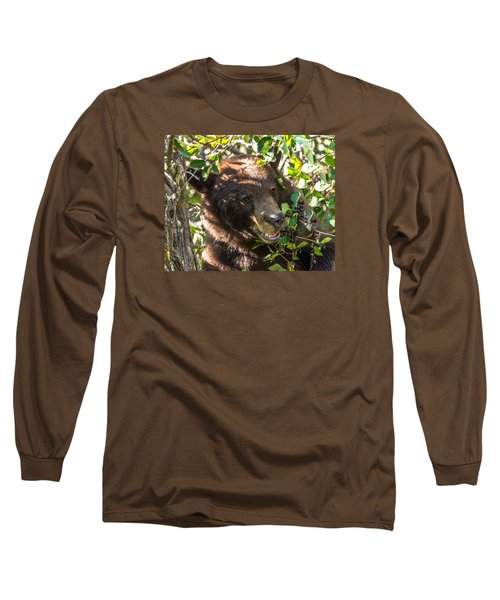Long Sleeve T-Shirt featuring the photograph Step Away From The Berries by Yeates Photography