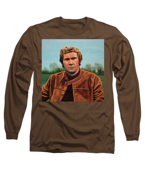 Steve Mcqueen Painting Long Sleeve T-Shirt by Paul Meijering