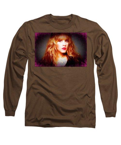 Stevie Nicks Drawing Long Sleeve T-Shirt