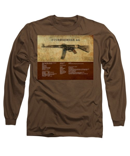 Long Sleeve T-Shirt featuring the digital art Stg 44 Sturmgewehr 44 by John Wills