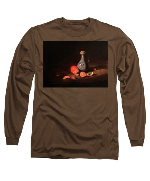 Still Life With A Little Dutch Jug Long Sleeve T-Shirt by Barry Williamson