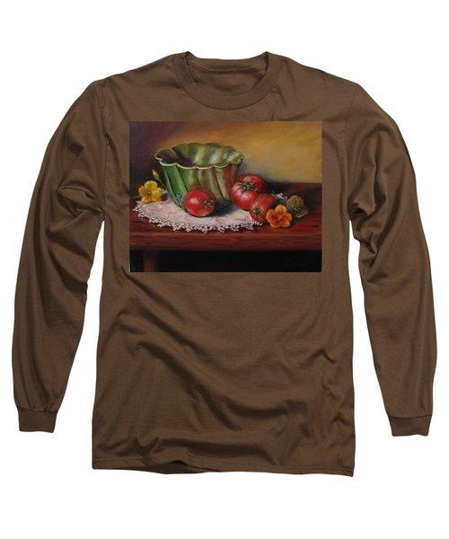 Still Life With Green Bowl Long Sleeve T-Shirt