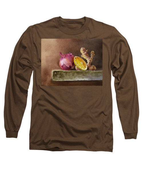 Still Life With Onion Lemon And Ginger Long Sleeve T-Shirt