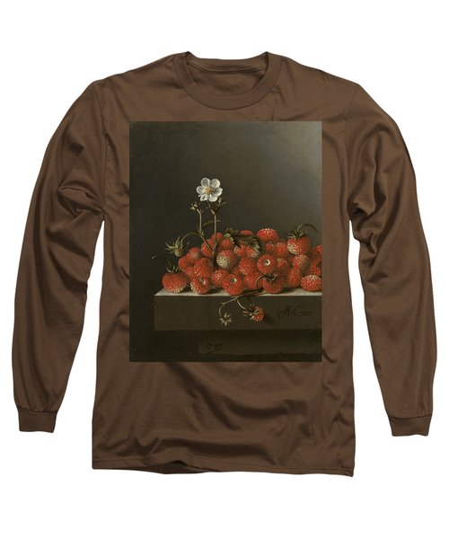 Still Life With Wild Strawberries Long Sleeve T-Shirt