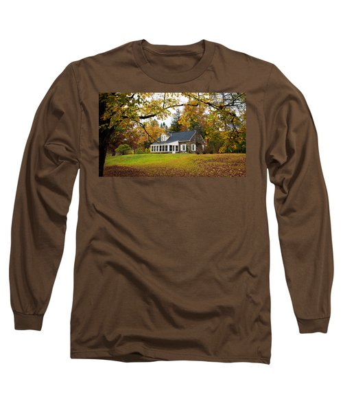 Stone Cottage In The Fall Long Sleeve T-Shirt
