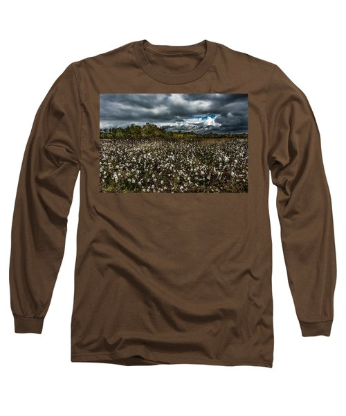 Stormy Cotton Field Long Sleeve T-Shirt