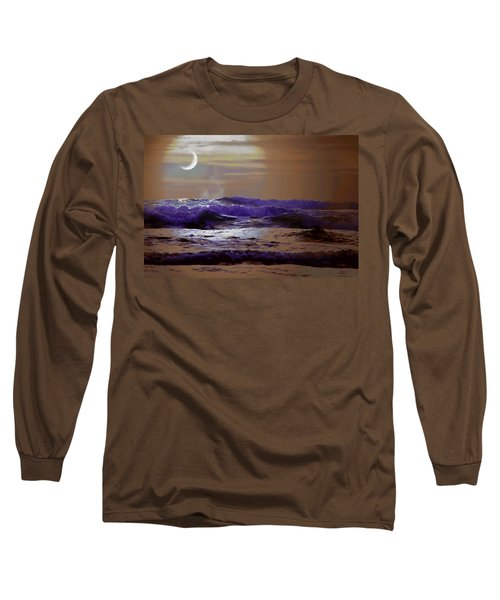 Long Sleeve T-Shirt featuring the photograph Stormy Night by Aaron Berg