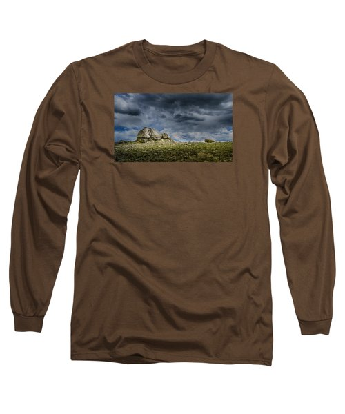 Stormy Peak 1 Long Sleeve T-Shirt by Mary Angelini