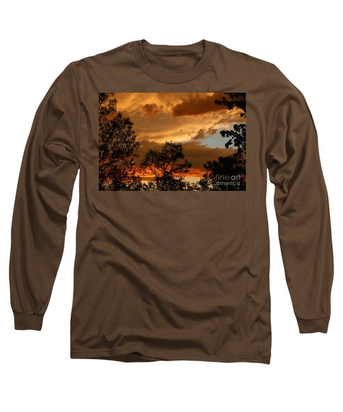 Stormy Sunset Long Sleeve T-Shirt by Marilyn Carlyle Greiner