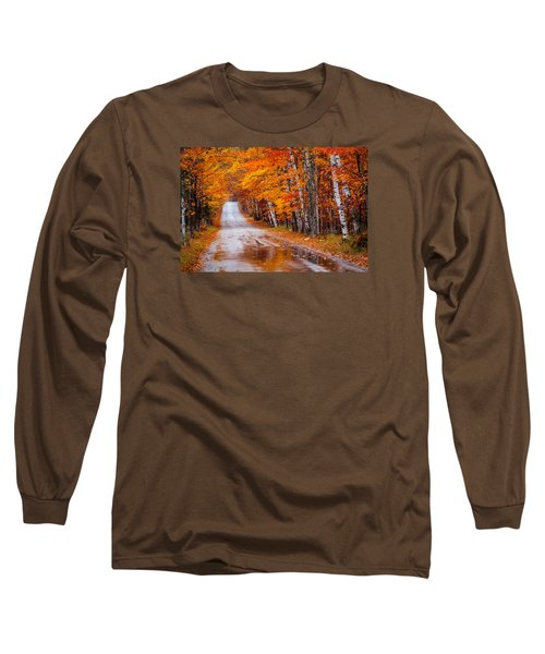 Straight Color Long Sleeve T-Shirt