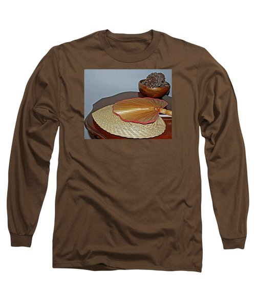 Long Sleeve T-Shirt featuring the photograph Straw Fans by Judy Vincent