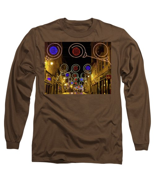 Long Sleeve T-Shirt featuring the photograph Street In Coimbra by Patricia Schaefer