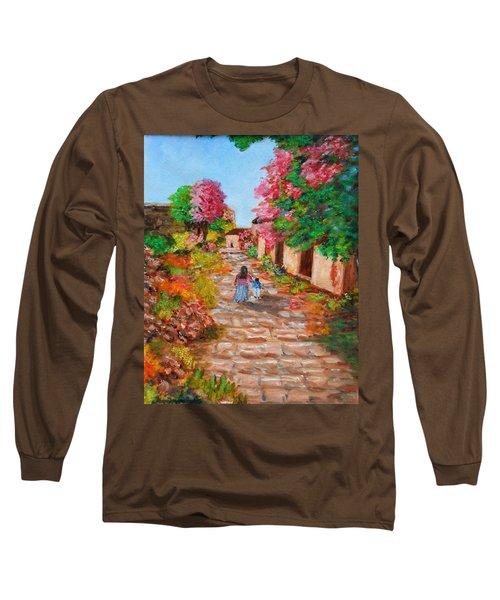 Street In Monemvasia Long Sleeve T-Shirt