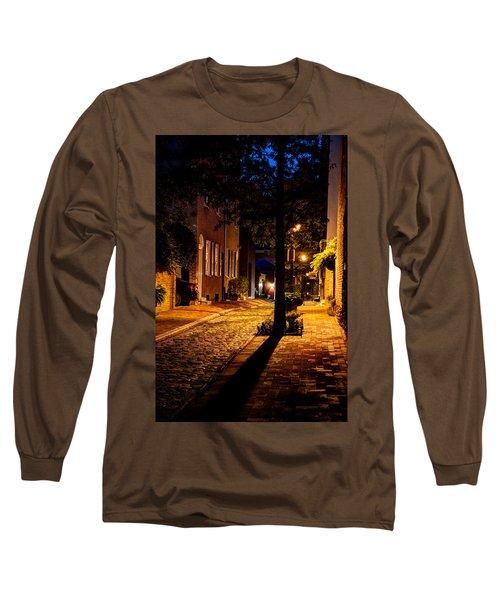 Street In Olde Town Philadelphia Long Sleeve T-Shirt