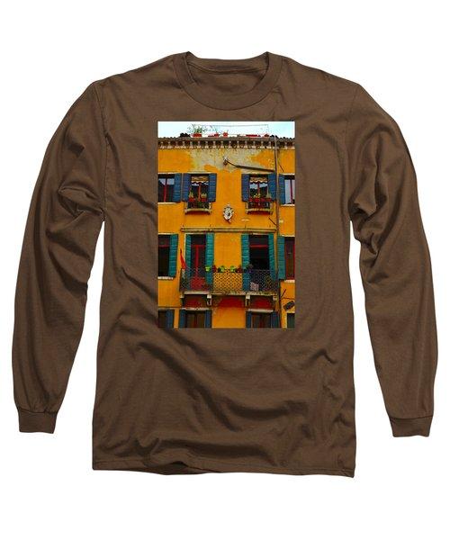 Long Sleeve T-Shirt featuring the photograph Street Scene Venice by Richard Ortolano