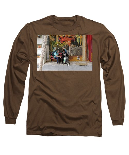 Long Sleeve T-Shirt featuring the photograph Street View In Jerusalem by Dubi Roman