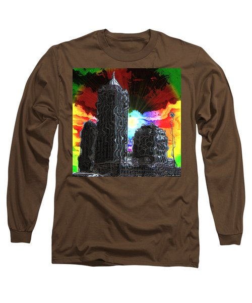 Structural Dissonance Long Sleeve T-Shirt by Iowan Stone-Flowers
