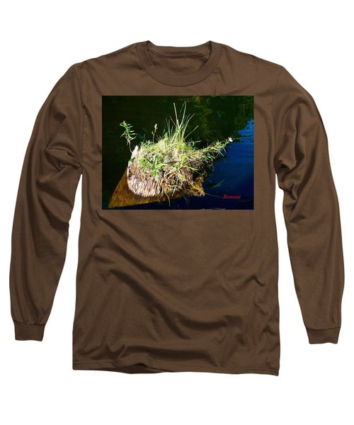 Long Sleeve T-Shirt featuring the photograph Stump Art 11 by Sadie Reneau