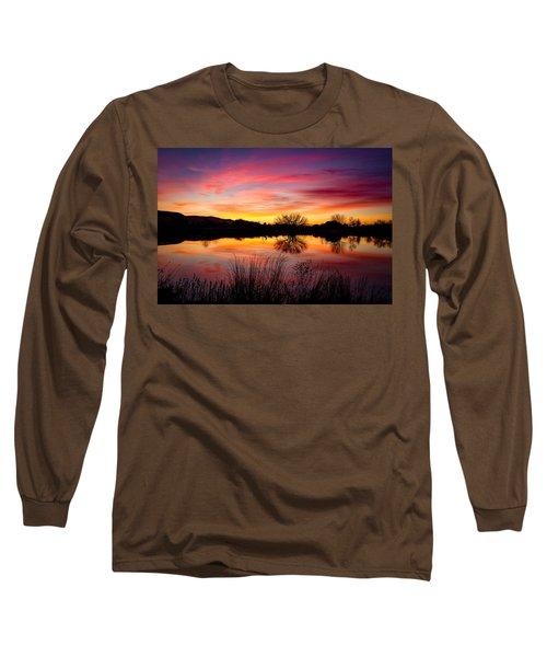 Stunning Pink Sunset Long Sleeve T-Shirt