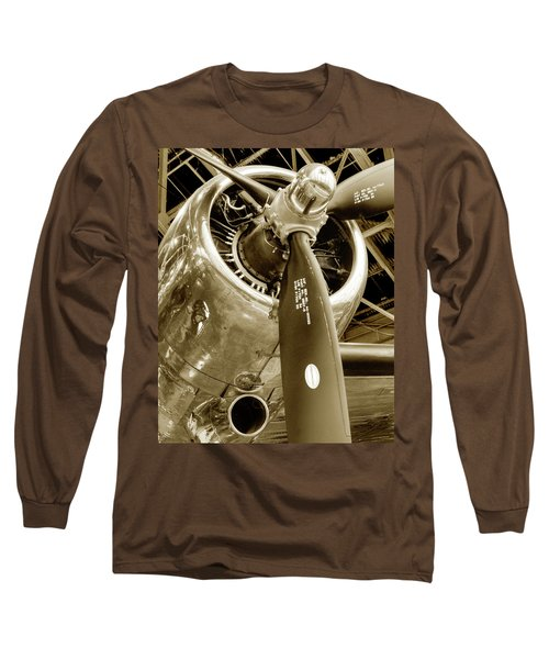 Stunning Propeller In Sepia Long Sleeve T-Shirt