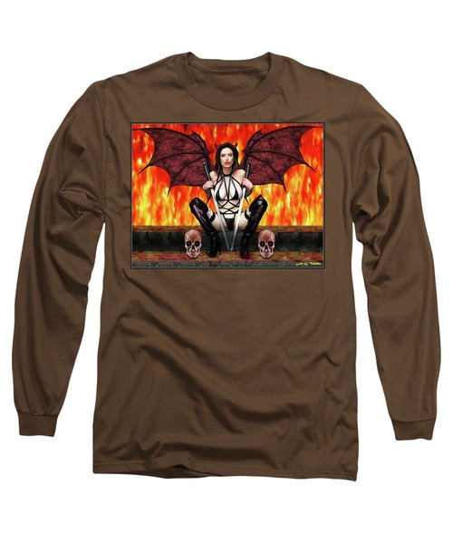 Succubus And Flames Long Sleeve T-Shirt