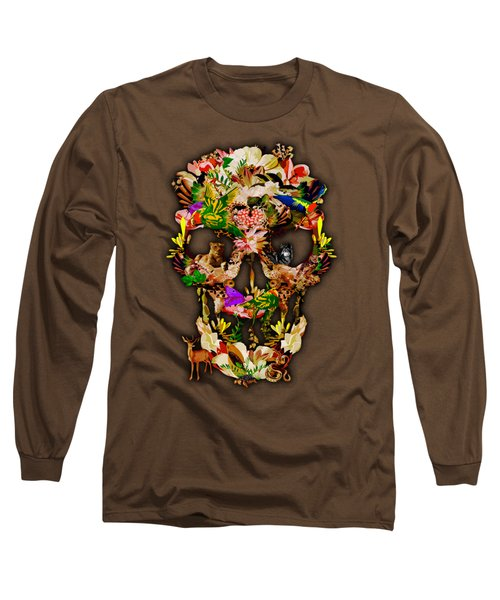 Sugar Skull Animal Kingdom Long Sleeve T-Shirt by Three Second