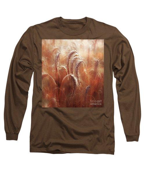 Summer Corn Long Sleeve T-Shirt by Agnieszka Mlicka