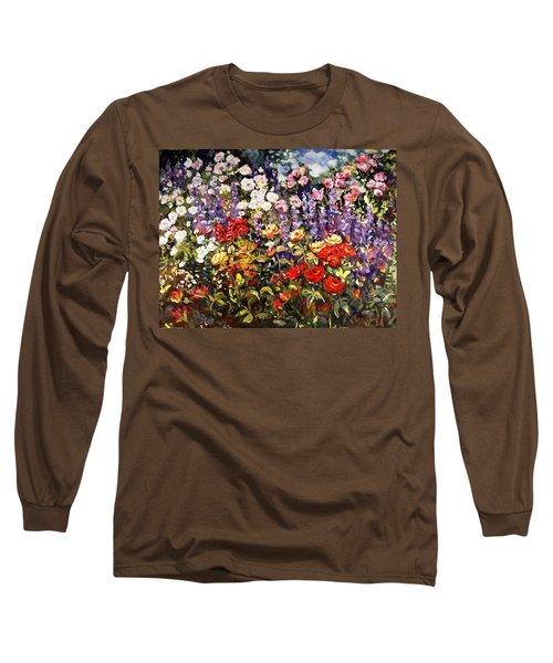 Summer Garden II Long Sleeve T-Shirt by Alexandra Maria Ethlyn Cheshire
